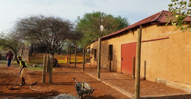 First phase of the new rhino orphanage