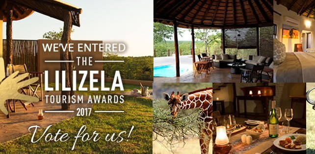 We're running in the competition for the Lilizela Tourism Awards 2017