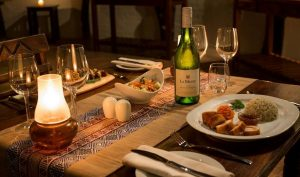 safari lodge dining - mopane bush lodge